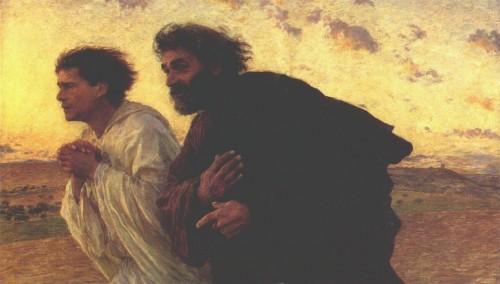 résurrection,pâques,tombeau,pierre et jean,œcuménisme,union d'églises,diversité théologique