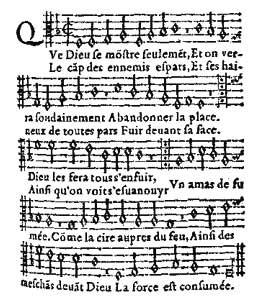 psaume,réforme,chant de guerre,st barthélémy,hymne protestant,goudimel,clément marot,théodore de bèze,chanson populaire