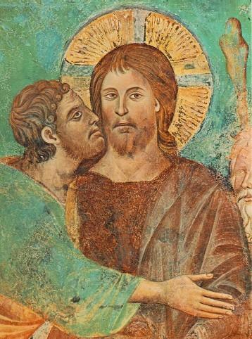 GiovanniCimabue. Le baiser de Judas (détail)v.1280. Fresque. Assise(judas).jpg