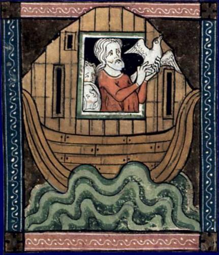 Noé et la colombe. Guiard des Moulins, Bible historiale.jpg