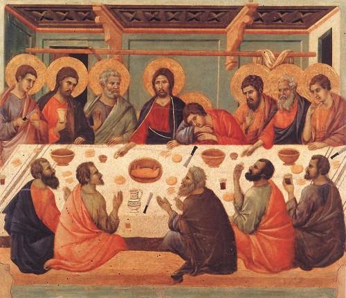 La dernière cène; DUCCIO; 1308-11, tempera sur bois; Museo dell'Opera del Duomo, Sienne.jpg