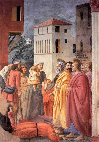 15 MASACCIO THE DISTRIBUTION OF ALMS AND THE DEATH OF .jpg