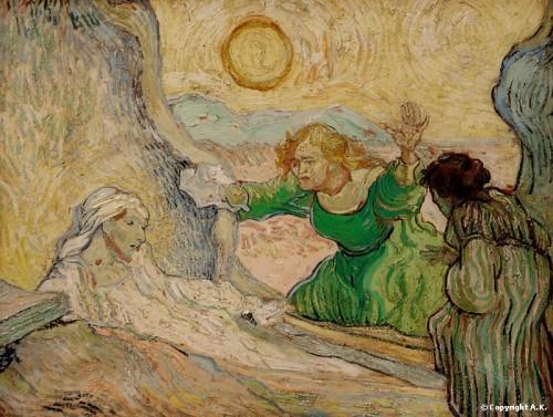 Résurrection de Lazare (d'après Rembrandt) - Saint-Rémy 1889:1890 - Musée Van Gogh.jpg
